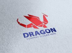 Origami Dragon Logo by eSSeGraphic on @creativemarket