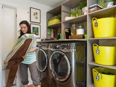 Smart Laundry Room Planning from Blog Cabin 2014:  From DIYNetwork.com from DIYnetwork.com