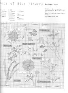 Gallery.ru / Фото #38 - Cross stitch by Kazuko Aoki. Wildflower Garden - tymannost