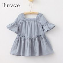 Hurave 2017 new fashion girls dress kids flare sleeve korean style embroidery clothing for children leisure Kids Dress Wear, Dresses Kids Girl, Kids Outfits, Korean Fashion Dress, Korean Dress, Toddler Dress, Baby Dress, Ruffle Dress, Toddler Girls