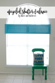 upcycled shutter val