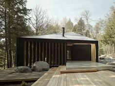 Clear Lake House, Parry Sound, Canada, by MacLennan Jaunkalns Miller Architects. Photo by A-Frame Studio.