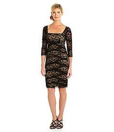 Marina Diagonal Tiered Lace Dress #Dillards not black