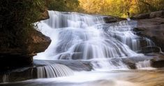 If you don't mind working for your waterfalls, lace up your hiking boots and journey to Transylvania County.