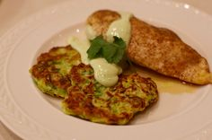 Put zucchini fritters with an easy to whip up avocado crema in the spotlight for dinner tonight. Pair with protein of your choosing or a poached egg.