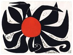 ¤ gouache Alexandre Calder 1973 http://www.mchampetier.com/coup-de-coeur-47-fr-Alexander-Calder.html