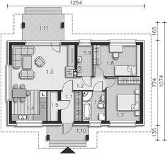 Rzut parteru projektu Corte LMB62 Better Homes, Autocad, Floor Plans, House, Home, Haus, Floor Plan Drawing, Houses, House Floor Plans