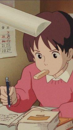 Movie Wallpaper The Whisper Of The Heart Old Anime, Manga Anime, Anime Art, Studio Ghibli Art, Studio Ghibli Movies, Hayao Miyazaki, Animes Wallpapers, Cute Wallpapers, Personajes Studio Ghibli