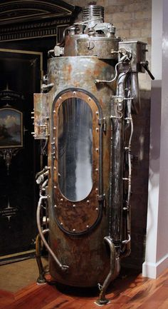 Steampunk furniture design ideas from cool to crazy. What do you think of Steampunk? What comes to mind is probably a cosplay girl in a leather corset and a circular skirt. The Steampunk furniture concep. Casa Steampunk, Steampunk Kunst, Mode Steampunk, Style Steampunk, Steampunk Design, Steampunk Costume, Steampunk Fashion, Steampunk Clothing, Steampunk Book