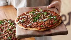 Turkish pizza with spicy mince (lahmacun) recipe : SBS Food