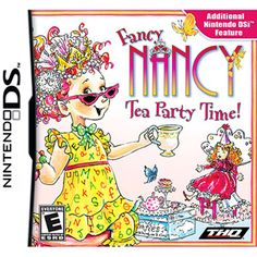 Learn more details about Fancy Nancy: Tea Party Time! for Nintendo DS and take a look at gameplay screenshots and videos. Nintendo Dsi, Ds Games, Mini Games, Kids Book Series, Fancy Words, Kids Around The World, Fancy Nancy, Gamers, Consoles