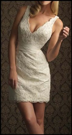 Love this for a second wedding dress or an older bride