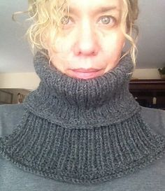 "Ravelry: chitweed's ""Snuggles"" for my hubby. This is a free knit cowl (dickie) pattern by Drops Design. Easy, fast, beginner pattern with nice warm results."