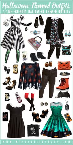 5 Size-Friendly Halloween-Inspired Outfits http://mysocalledchaos.com/2017/10/5-size-friendly-halloween-inspired-outfits.html