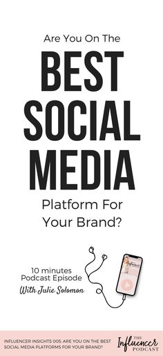 After reading Bloglovin's take on which social platforms are most relevant to influencers, I break down when you should and shouldn't focus on YouTube, Facebook, Instagram, Snapchat, Twitter, Pinterest, and blogs. // Julie Solomon, The Influencer Podcast -- #socialmedia