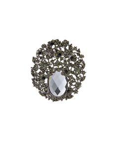 Loving this Hematite Abstract Brooch on #zulily! #zulilyfinds