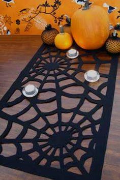 DIY Spider Web Table Runner for Halloween