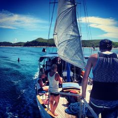 #Fiji #sailing #yasawa #seaspraysailing #southseacruises Sea Spray, Sailing Adventures, Crystal Clear Water, South Seas, Fiji, Beautiful Beaches, Cruise, Island, Explore