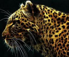 fractal animal | fractalius leopards HD Wallpaper - Wild Animal & Reptiles (#439841)
