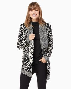 charming charlie | Oversized Printed Cardigan | UPC: 100034110 #charmingcharlie