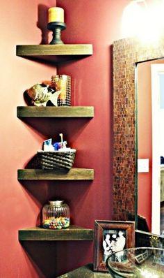 How To Build Cute Corner Shelves For Bathroom