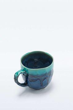 """Tasse """"Kosui"""" in blauem Steindesign"""