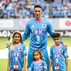 Fernando Torres with his children  Sagan Tosu