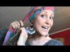 Colocación pañuelos 1 // Cancer mama ;) - YouTube