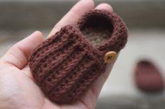 Botitas de niño del bebé del ganchillo patrón para fácil en mocasines Crochet patrón 104 - descarga instantánea