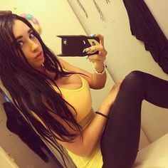 Tumblr women black and blue tits