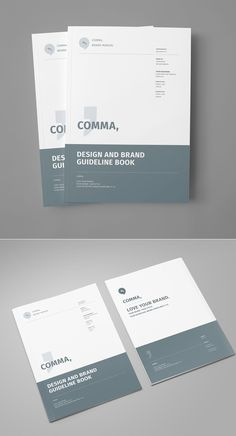 Brand Manual and Identity Template – Corporate Design Brochure – with 48 Pages and Real Text!Minimal and Professional Brand Manual and Identity Brochure template for creative businesses, created in Adobe InDesign in International DIN and US Letter… Graphic Design Brochure, Corporate Brochure Design, Graphic Design Books, Brochure Layout, Brochure Template, Branding Design, Brochure Cover Design, Identity Branding, Design Posters