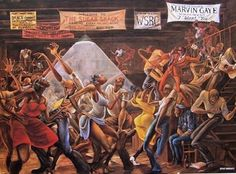 """Do you remember the painting Sugar Shack on the sitcom """"Good Times?"""" If you were like most children growing up during that time, you might have thought J.J (Jimmie Walker) had painted it. No, it was not the work of Jimmie Walker. But it was the work of an African-American man named """"#Ernie Barnes."""""""
