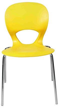 Ventura Plastic Chair (Yellow)