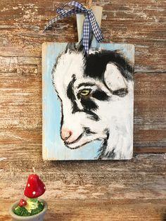Acrylmalerei - Malerei Acryl auf Holzbrett Ziege - ein Designerstück von Art-istique bei DaWanda