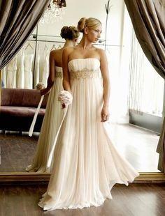 All times favorite! / empire waist, ivory, shiffon, simple yet gorgeous!