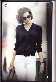 From Parisian Chic by Ines de la Fressange... beautifully simple and eternally stylish combination...