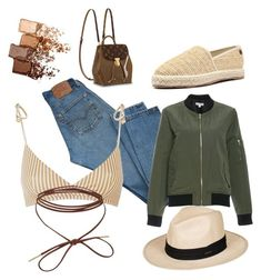 """""""Hot spring"""" by pkaluzinsky on Polyvore featuring Levi's, Roxy and Maybelline"""