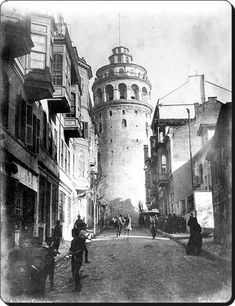 The Galata Tower - Istanbul - Architecture Kyoto, Pictures Of Turkeys, Istanbul Pictures, City Landscape, Photographic Studio, Ottoman Empire, Historical Pictures, Antalya, Vintage Photographs