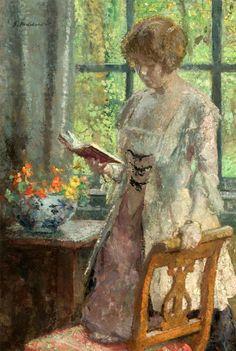 Gari (Julius Garibaldi) Melchers (1860-1932) - Young Woman Reading
