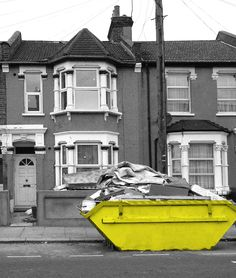 Ah yes, London skips. where my younger sister and I spent many happy hours rummaging and discovering. Stoke On Trent, London, This Or That Questions, Architecture, Childhood, Range, Cover, Happy, Arquitetura