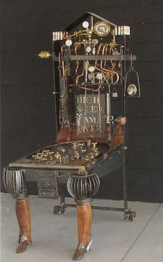 Image Steampunk pinball machine with it's anthropomorphic wooden legs! By Gianni Fanelli in Steampunk Style album Design Steampunk, Steampunk Kunst, Mode Steampunk, Style Steampunk, Steampunk Gadgets, Steampunk House, Steampunk Fashion, Steampunk Coffee, Steampunk Guitar