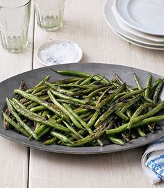 Sesame oil and soy sauce lend these veggies Asian flair. Recipe: Skillet Green Beans   - CountryLiving.com