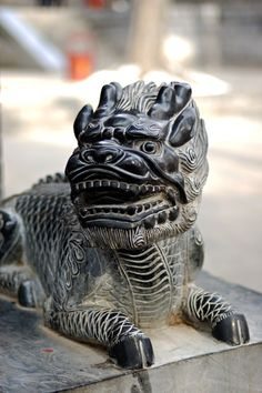 Chinese unicorn - Qilin- mythical Chinese chimerical creature. Taken at Shaolin Temple...........d