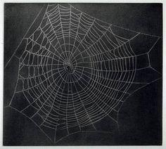 Untitled (Spider Web) by Vija Celmins