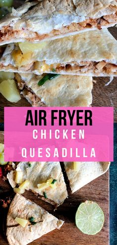 Air Fryer Chicken Quesadillas - Recipe Diaries - Homemade quesadillas are super easy and healthy to make in your air fryer! Buffalo Chicken Sandwiches, Chicken Quesadillas, Stromboli, Pampered Chef Recipes, Cooking Recipes, Oven Recipes, Dinner Recipes, Healthy Recipes, Easy Chicken Recipes