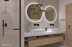 NÁVRH KÚPEĽNE - Fotogaléria, šikovné riešenia kúpeľní / BENEVA Bathroom Lighting, Mirror, Furniture, Home Decor, Bathroom Light Fittings, Bathroom Vanity Lighting, Decoration Home, Room Decor, Mirrors