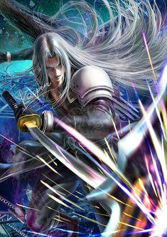 Final Fantasy Cloud, Final Fantasy Artwork, Final Fantasy Vii Remake, Fantasy Series, Vincent Valentine, Manga, Fantasy Male, Cloud Strife, Handsome Anime