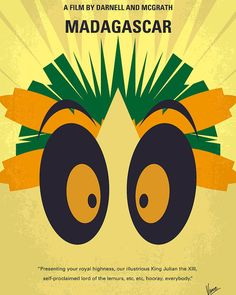 East Urban Home 'Madagascar Minimal Movie Poster' by Chungkong Vintage Advertisement on Wrapped Canvas Size: Movie Poster Art, All Poster, Film Posters, Retro Posters, Disney Posters, Madagascar Movie, Ben Stiller, Minimal Movie Posters, Thing 1