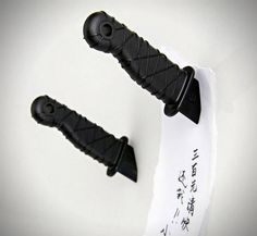 Set of two ninja dagger fridge magnets with a neat 'embedded' effect: http://www.walletburn.com/Ninja-Knife-Fridge-Magnets_689.html #kitchen #giftideas