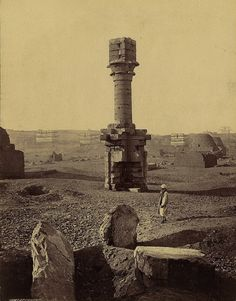 The ruins of a fallen kingdom, Luxor, Egypt, date unknown.